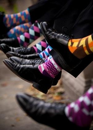 calcetines para hombre colores geometria