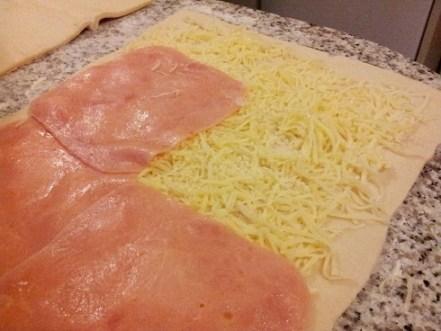 empanada de hojaldre jamón y queso