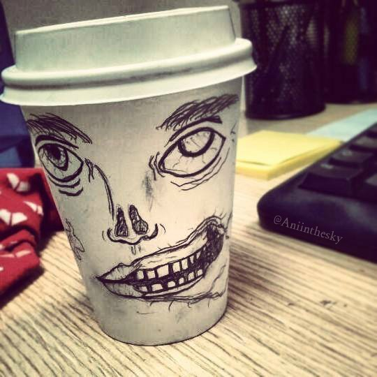 vaso taza zombie take away