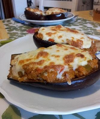 como hacer berenjenas rellenas con bechamel y queso