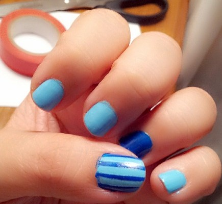 dibujar lineas uñas nail art