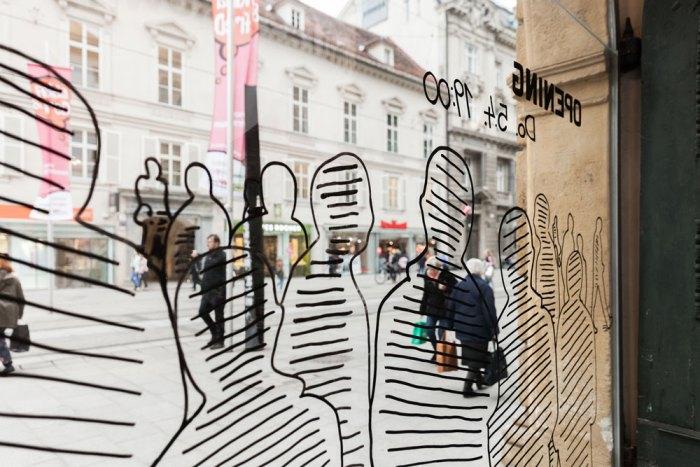 """Ausstellungsgestaltung """"Wir und Passarowitz"""", Foto: Janine Wagner"""