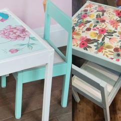 Ikea Kids Table And Chairs Wing Chair Recliner Latt Hacks 12 Ways To Do It Anika S Diy Life Decoupaged Makeover Love These