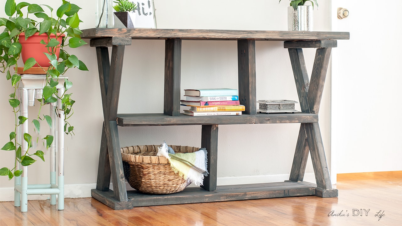Diy Rustic X Leg Console Table With Plans Anika S Diy Life