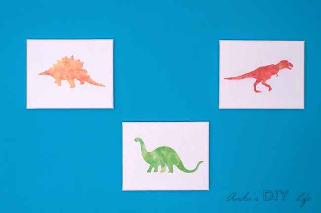 Easy canvas artwork made from printables