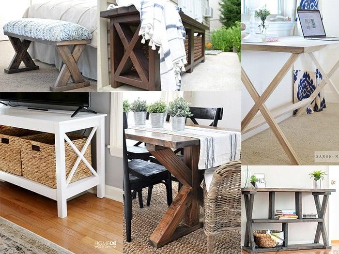 20 diy x leg furniture project ideas