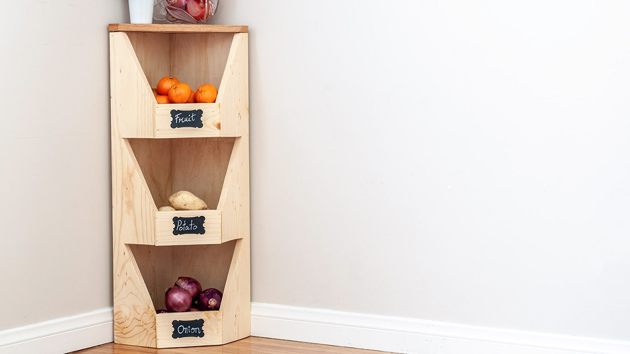 Diy Corner Vegetable Storage Bin Plans Anika S Diy Life