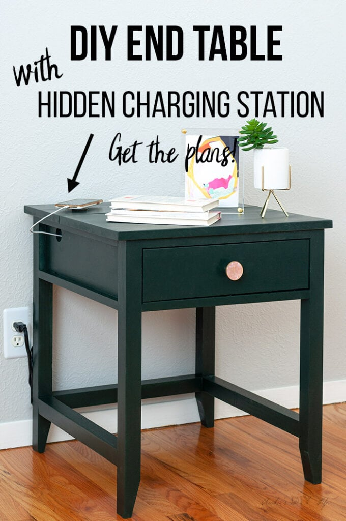 diy end table with charging station