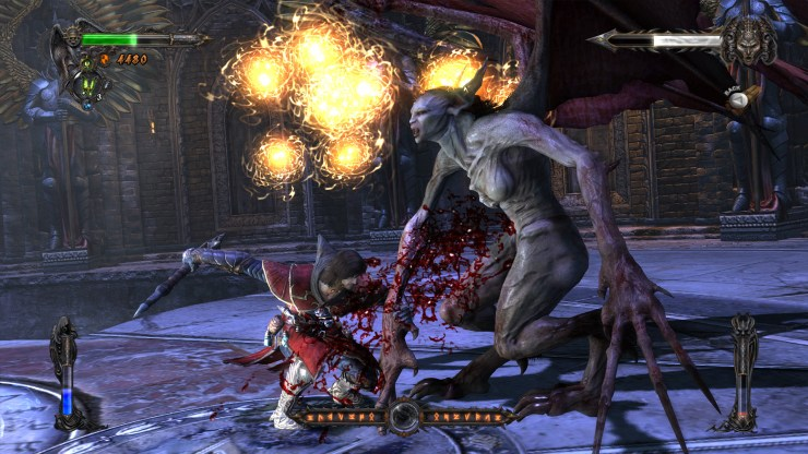 Batalla contra jefe en Castlevania: Lords of Shadow.