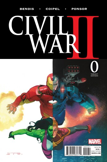 Portada variante de Civil War II #0