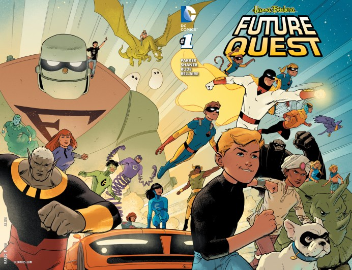 Portada doble pasta de Future Quest #1