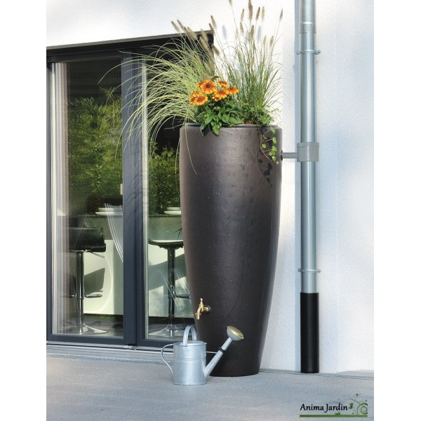 Rcuprateur deau de pluie 300 litres 2 en 1 avec bac fleurs GRAF