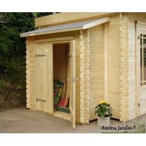 remise a outils 2 portes adossable pour abri de jardin 19mm solid achat vente