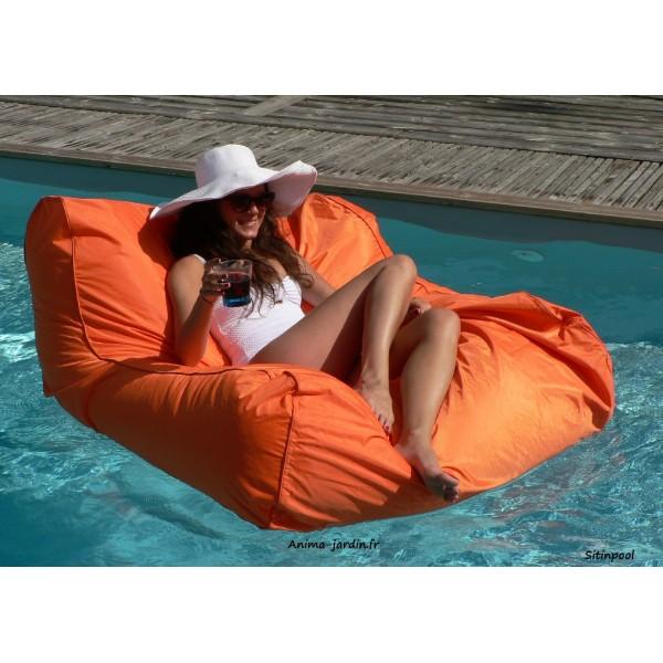 Fauteuil flottant piscine sitinpool canap de piscine pouf pas cher