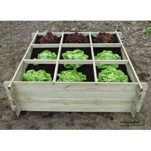 carre potager bois autoclave 9 cases carre de jardin solid pas cher