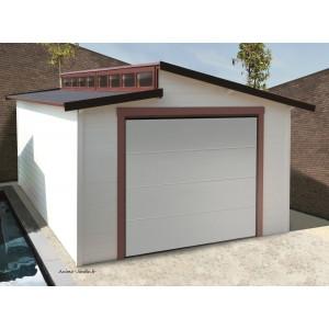 garage bois porte coulissante torino toit 2 pentes solid pas cher