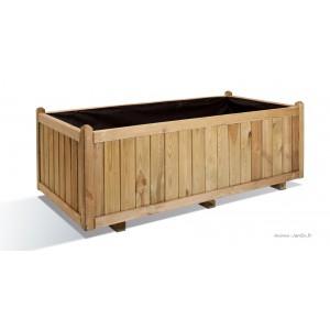 grande jardiniere 140 cm vendome bois autoclave bac a fleurs plantes pas cher achat