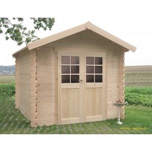 petit abri de jardin en bois 28mm nimes 5 m 2 portes solid pas cher achat