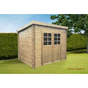 abri de jardin en bois 19mm toit monopente jena 6m 2 portes solid pas cher