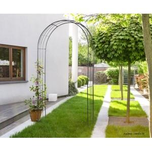 arche en metal decoration jardin support plantes grimpantes whisper arch nortene achat pas cher