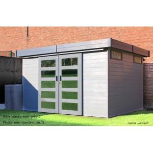 abri de jardin en bois 19 mm sjobo toit plat 8 39m solid pas cher achat vente