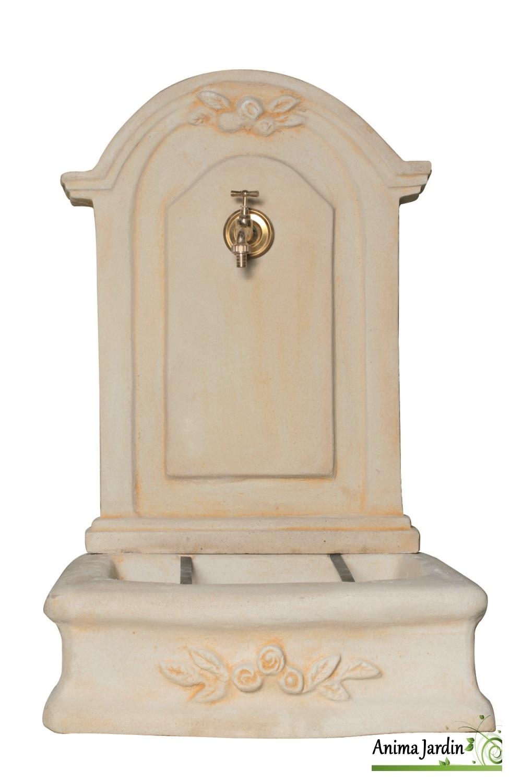 fontaine murale romantique mm en pierre reconstituee 96 cm de haut ton vieilli achat vente