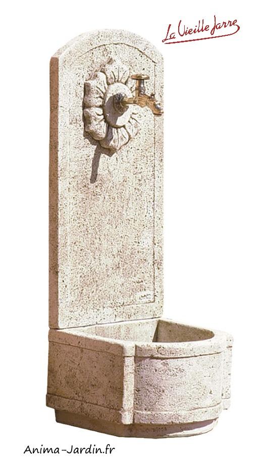 fontaine murale en pierre reconstituee tournesol haut 101cm