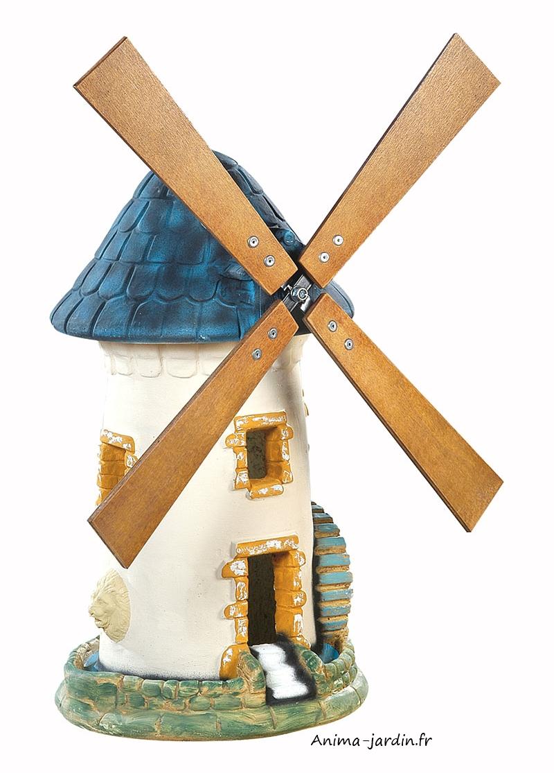 moulin a vent ardoise decoration de jardin 68 cm achat pas cher