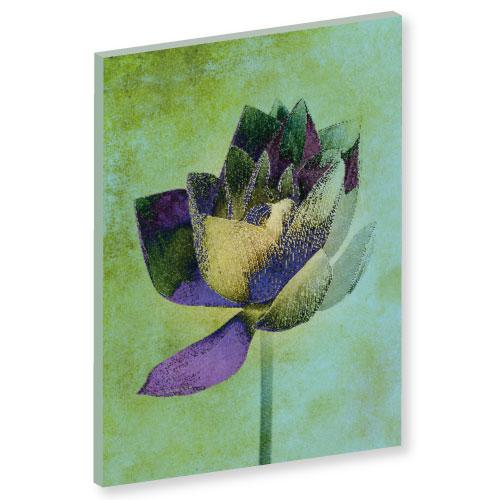 Wandbild Lotusblume, Leinwandbilder, Lotus, Lotusblume Energiebild, Harmonisierung von Raum und Mensch, feng shui bild, Wanddeko, grüne Bilder, grünes Bild, floral, Blumenbild, Blumen