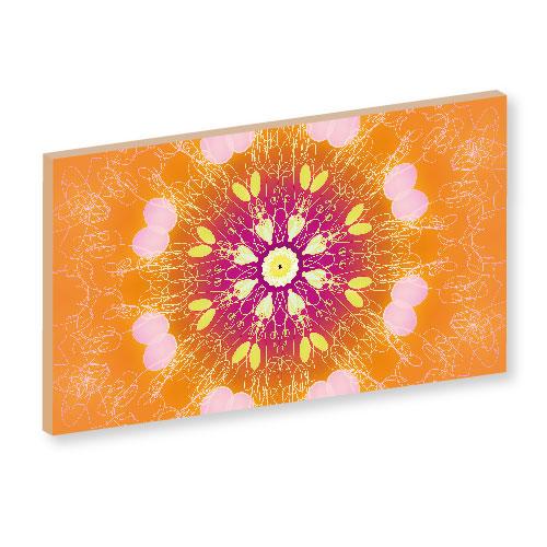 ueberschäumende Lebensfreude, orange, mandala, wanddeko, wandbilder, deko, extasy, extase
