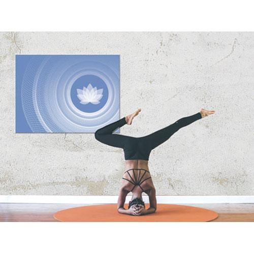 Wandbilder yoga, Lebendigkeit und Klarheit, blau und weiss, Harmonisierung vom Mensch und Raum, Seelenwellness, Leinwandbild, Feng Shui Norden, Leinwandbild, wanddeko, yogastudio, bilder für das yogastudio