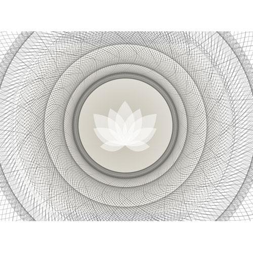 Seelenwellness, Bilder für die Seele, Wanddekco, schönes Wohnen, Mandala, weiss, sandfarben, beige, leinwandbild, Foto auf Leinwand, lotusblume