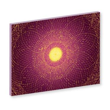 Yoga nidra, tiefschlaf, wandbild, wanddeko, rotes bild, meditation, spirituelles bild, heilkraft, feng shui, feng shui bild, energiebild, seelenwellness, rotes bild,