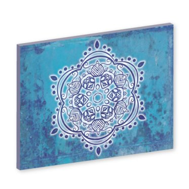 Mandala Wandbild, blaue Energie, Bilder online kaufen, Wandbilder, Feng Shui Bild, Wanddeko, Leinwandbild, Farbwirkung, blau, verspielt, Feng Shui Bagua norden, Wandgestaltung, Wanddesign, Wanddeko, Mandalas, indien, indisch, Wandtapete