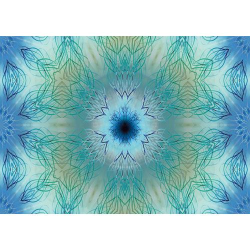 Wandbild Türkis blau Gelb, Geheimnis Charisma, Wanddeko