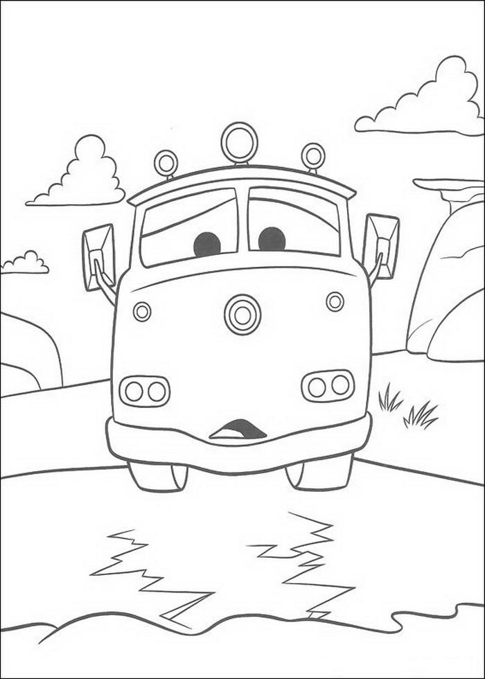 Malvorlage - Cars malvorlagen 1