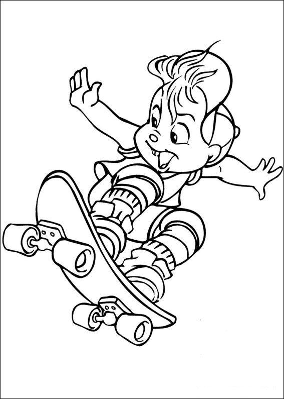 Malvorlage - Alvin und die chipmunks ausmalbilder evrvi