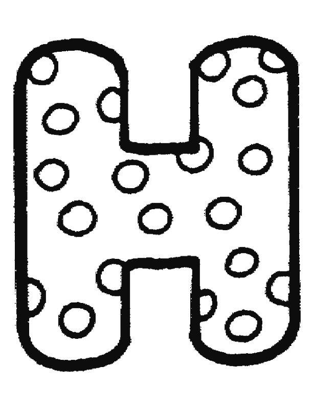 Kleurplaat Alfabet Stippen » Animaatjes.nl