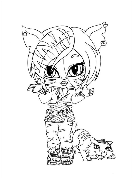 Monster High Kleurplaten » Animaatjes.nl