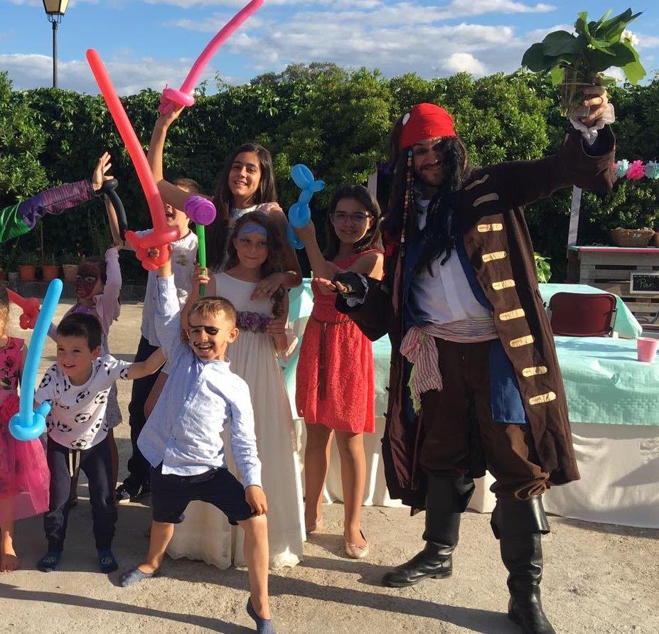 animaciones infantiles con piratas del caribe