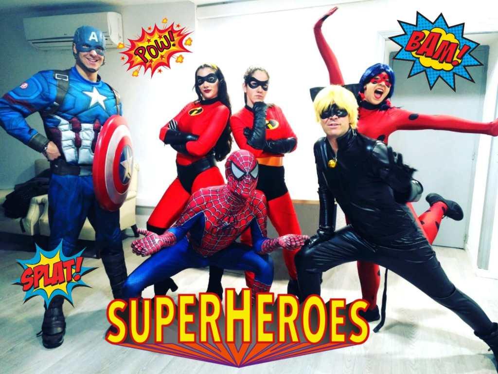animaciones infantiles con superhéroes