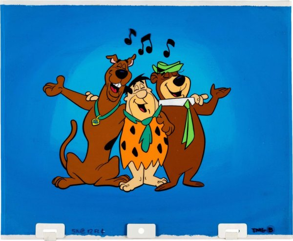 Scooby Doo and Fred Flintstone Yogi Bear