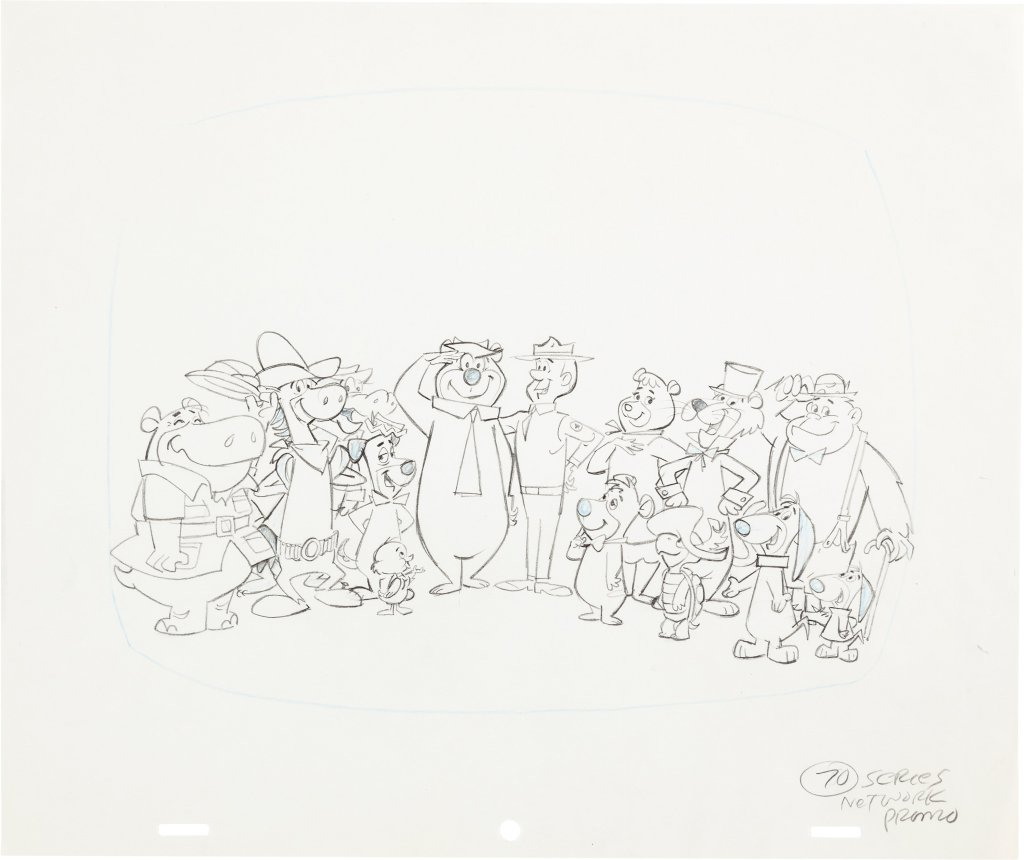 Yogi S Ark Lark Illustration Drawing Hanna Barbera