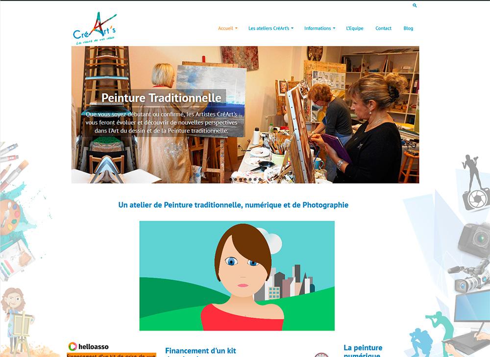 Site web CréArt's