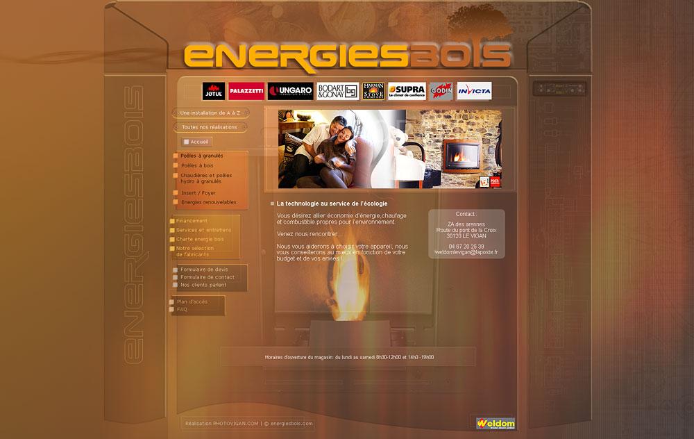 Web design Énergies bois Groupe Weldom