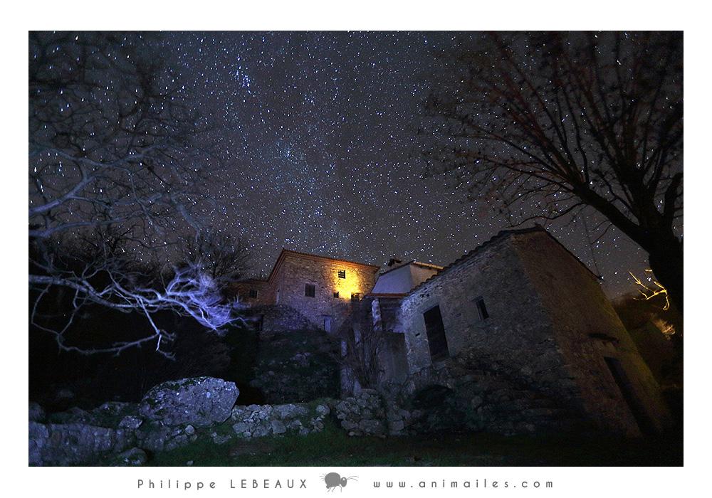 hameau de Pratcoustalde nuit