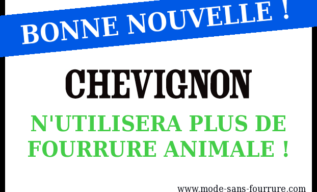 BONNE NOUVELLE : Chevignon n'utilisera plus de fourrure animale !