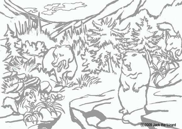 Tropical Island Coloring Pages