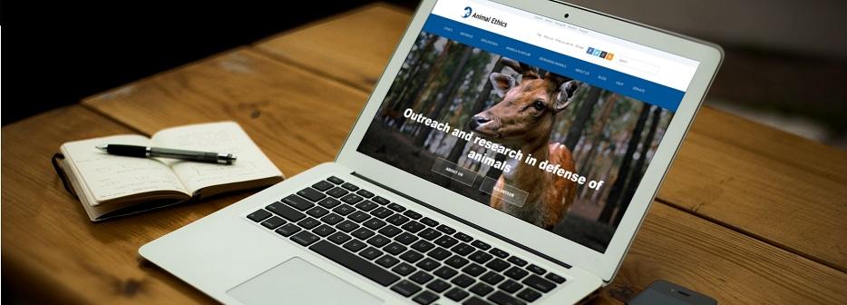 Animal Ethics new website design