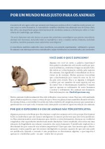 Baixe os folhetos da Ética Animal